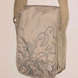North Face Graphic Embroidered Cross Body NWOT